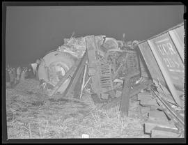Train wreck near Columbia Boulevard and Northeast 82nd Avenue
