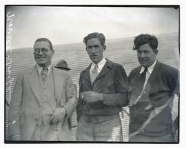 George O. Noville, F. V. Tompkins, and R. S. Allen at air circus on Swan Island, Portland
