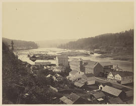 """The Willamette Falls. Oregon City, Oregon."" (Mammoth 414)"
