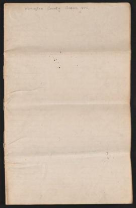 Washington County census roll, 1856