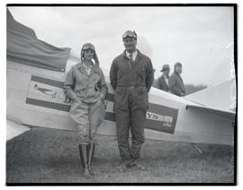 Louise McPhetridge? and Warren with airplane