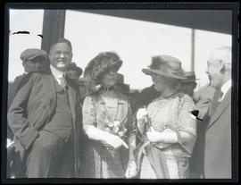 Herbert Hoover, First Lady Florence Harding, and unidentified woman in Portland