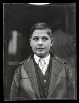 Unidentified boy, head and shoulders portrait