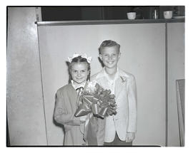 Merna Newport and DeWayne Klovas, 1947 Junior Rose Festival royalty