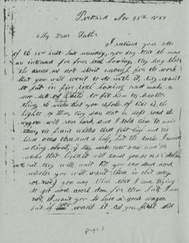 Photocopy of a document dated Nov. 25th 1857