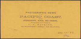 "Verso of, ""Oregon City, Oregon."" (Stereograph 1223)"
