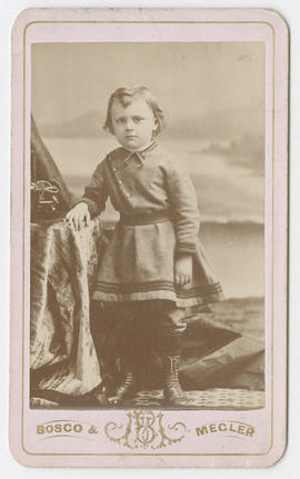 Unidentified portrait of a young child from Bosco and Megler Studios