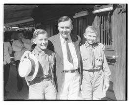 Joseph K. Carson and two unidentified Boy Scouts