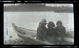 Children in a canoe