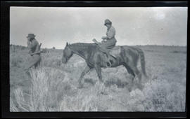 Irene Finley on horseback