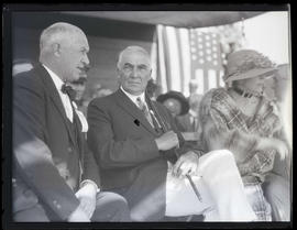 Governor Walter M. Pierce, President Warren G. Harding and First Lady Florence Harding in Meacham...