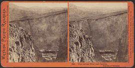 """View across River and Canyon, from top of Palisades"" (Stereograph 341)"
