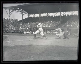 Roy Elsh at bat for Portland