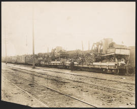 First freight train on the Oregon Electric Railway extension