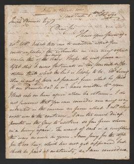 Letter from John Pintard to Joseph Barrell