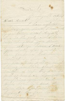 Letter to Sarah Ann Palmer from Isabella Force?