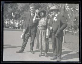 Portland Mayor George L. Baker, First Lady Florence Harding, and Governor Walter M. Pierce in Por...