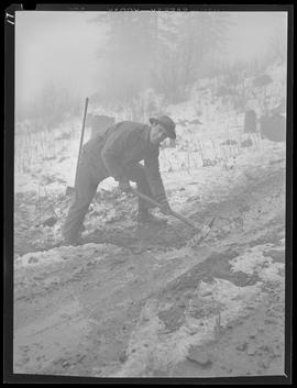 Worker at Civilian Public Service Camp #21 at Wyeth
