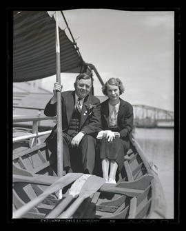 Joseph K. Carson and unidentified woman on boat