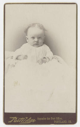 Portrait of an unidentified baby from Partridge Studio