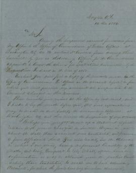 Copy of letter to L.F. Grover