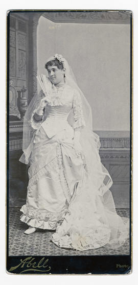 Sarah Adams (Wood) Robertson on her wedding day
