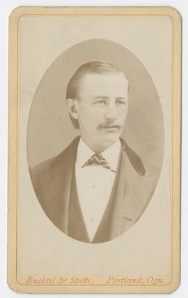 Portrait of an unidentified man from Buchtel and Stolte Studios