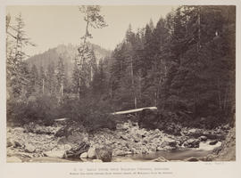 """O.12. Eagle Creek from Railroad Crossing, Gascades [sic]."""