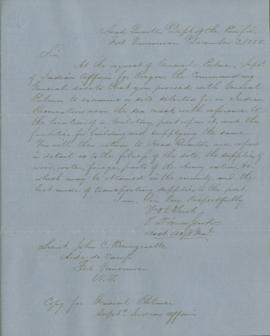 Letter from E.D. Townsend to John C. Bonnycastle