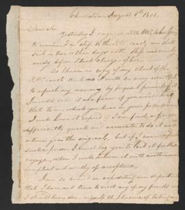 Letter from Robert Haswell to Joseph Barrell