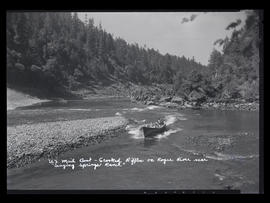 U.S. Mail Boat - Crooked Riffles on Rogue River near Singing Springs Ranch