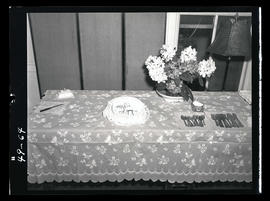 Table with cake