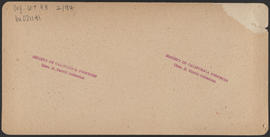 "Verso of, ""The Passage of the Dalles, Col. River, Or."" (Stereograph E27)"