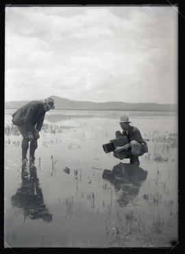 Bohlman and Finley Photographing Ducklings