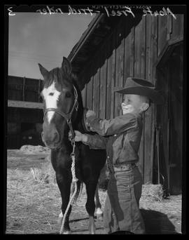 Boy with Horse at Pendleton Round-Up