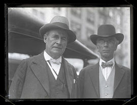 William Jennings Bryan and unidentified man