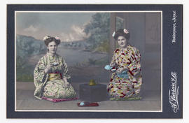 Nan Robertson and Mary Robertson in Japan