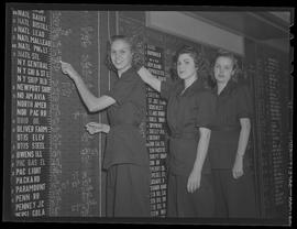 Stock exchange board girls, Merrill and Lynch Wilcox Building