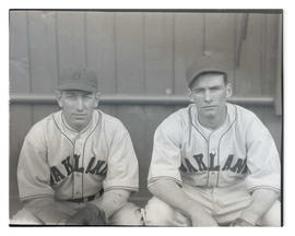 Two baseball players for Oakland