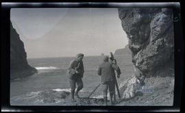 Film crew on Three Arch Rocks