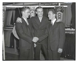 Three unidentified men at Joe Weiner's clothing store?