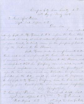 Copy of letter from W.H. Packwood