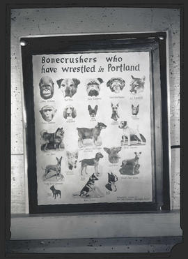 Poster titled 'Bonecrushers who have wrestled in Portland'