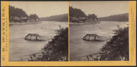 """View on the Columbia River, from the O.R.R., Cascades."" (Stereograph 1281)"