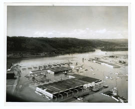 Flooded buildings during the Vanport flood
