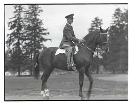 U. S. military officer on horseback