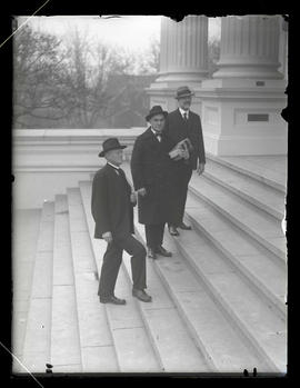 Representative D. C. Lewis, chief clerk W. Fred Drager, and Representative L. H. Adams at Oregon ...