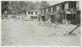 Damaged apartment buildings after the Vanport flood