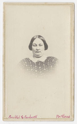 Portrait of an unidentified woman from Buchtel and Cardwell Studios