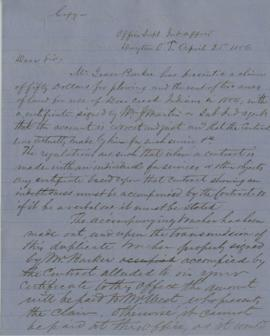 Copy of letter from Joel Palmer to William J. Martin